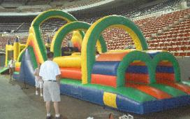 Large Inflatable Obstacle Course Rental Michigan, Ohio, Indiana, Iowa