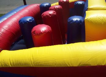 Upright Obstacle Course Tubes in Inflatable Game Rentals