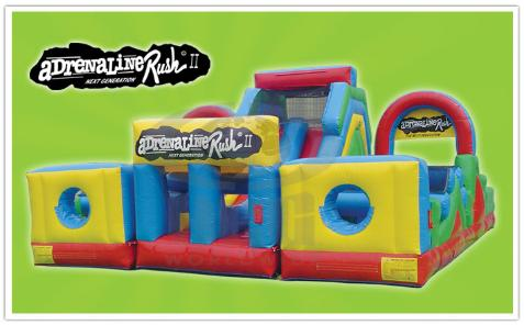 Adrenaline Rush Obstacle Course Inflatable Rentals in MI, OH, IN, IL, IA, WI, KY, TN