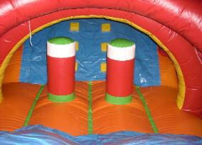 Crazy Caterpillar Interior view kids obstacle course rental