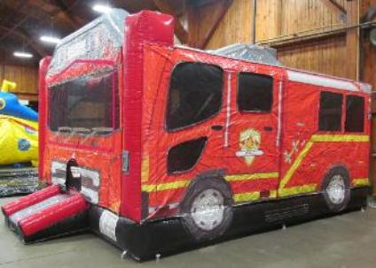 Fire Truck Combo Moonwalk Rentals Michigan