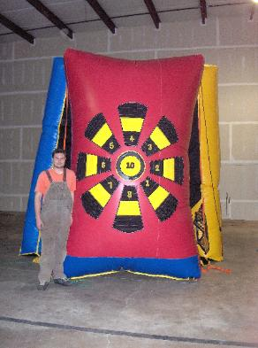 Giant Velcro Darts Carnival Game Rentals