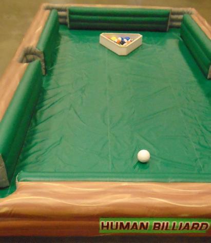 Human Billiards Giant Human Pool Table Inflatabe Game Rental MI OH - Human pool table