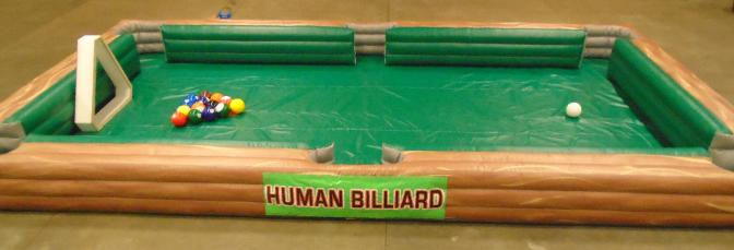 human billiards giant human pool table inflatabe game rental mi, oh,