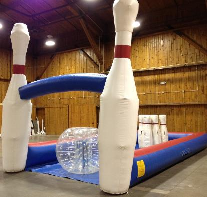 Human Bowling Giant Inflatable game rentals for Post Proms, College Events, Project Graduation Nationwide