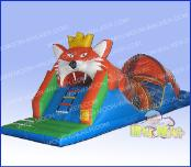Lion Theme Inflatable Obstacle Course for Kids