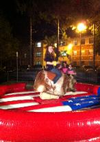 Mechanical Bull for Campus Orientation Events