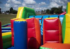 Mega Force Inflatable Obstacle Course Interior