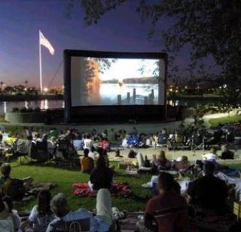 Outdoor Movie Screen Drive In Movie System Rental MI, OH, IN.