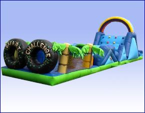 Tropical Theme Safari Challenge Obstacle Course Rentals