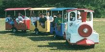 Trackless Train Choo Choo Train Rentals for Company Picnics