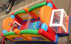 Ultimate Sports combo features Hoops, Twister, Joust and more in one inflatable game for School Carnival Rentals