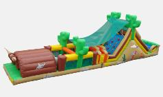Western Theme Obstacle course rental Michigan