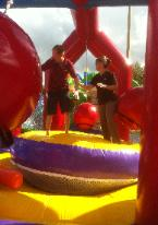 Wrecking Ball and Inflatable Game Rentals for College Orientation Events